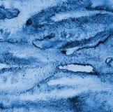 Αφηρημένο μπλε watercolor στη σύσταση εγγράφου ως υπόβαθρο Christm Στοκ Φωτογραφία