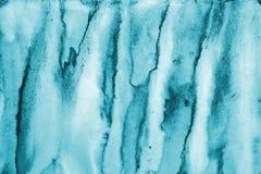 Αφηρημένο μπλε watercolor στη σύσταση εγγράφου ως υπόβαθρο Christm Στοκ Εικόνα