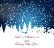 Αφηρημένο νέο έτος χειμερινού χιονιού και φυσικό υπόβαθρο Χαρούμενα Χριστούγεννας επίσης corel σύρετε το διάνυσμα απεικόνισης απεικόνιση αποθεμάτων