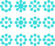 Αφηρημένο νερού SE λογότυπων μορίων διανυσματικό Στοκ Εικόνα