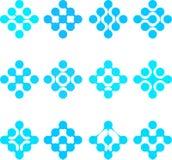 Αφηρημένο νερού SE προτύπων λογότυπων μορίων διανυσματικό Στοκ Εικόνα