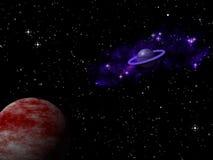 Αφηρημένο νεφέλωμα γαλαξιών στο υπόβαθρο κόσμου Στοκ φωτογραφία με δικαίωμα ελεύθερης χρήσης