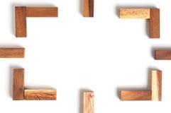 Αφηρημένο ξύλο πλαισίων Στοκ Εικόνα