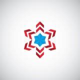 Αφηρημένο λογότυπο απεικόνισης συμβόλων αστεριών Στοκ Εικόνες