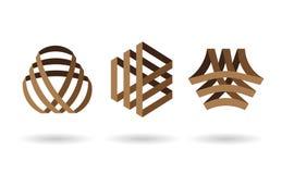 Αφηρημένο λογότυπο περιστροφής τριγώνων γραμμών Στοκ εικόνα με δικαίωμα ελεύθερης χρήσης