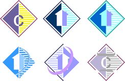 αφηρημένο λογότυπο στοιχείων επιχείρησης ανασκόπησης μαύρο Στοκ εικόνες με δικαίωμα ελεύθερης χρήσης