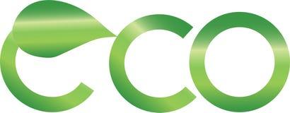 Αφηρημένο λογότυπο eco Στοκ φωτογραφίες με δικαίωμα ελεύθερης χρήσης