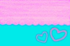 Αφηρημένο ομαλό μπλε και ρόδινο υπόβαθρο θαμπάδων με την καρδιά Στοκ φωτογραφία με δικαίωμα ελεύθερης χρήσης