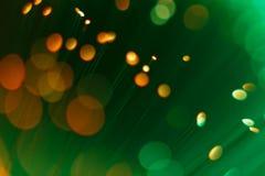 Αφηρημένο οπτικό υπόβαθρο έννοιας τεχνολογίας ινών πράσινο Στοκ Εικόνες