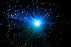 Αφηρημένο οπτικό υπόβαθρο έννοιας τεχνολογίας του Sci Fi ινών Στοκ Εικόνες