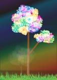 Αφηρημένο ουράνιο τόξο Tree_ai ελεύθερη απεικόνιση δικαιώματος