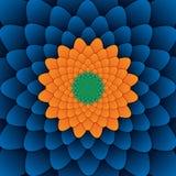 Αφηρημένο λουλουδιών mandala διακοσμητικό τετράγωνο υποβάθρου σχεδίων μπλε Στοκ εικόνα με δικαίωμα ελεύθερης χρήσης