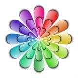 Αφηρημένο λουλούδι χρώματος Στοκ Εικόνες