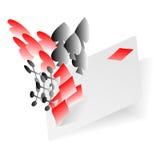 Αφηρημένο παίζοντας διάνυσμα υποβάθρου στοιχείων καρτών Στοκ εικόνες με δικαίωμα ελεύθερης χρήσης