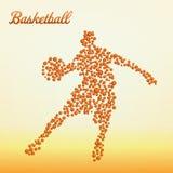 αφηρημένο παίχτης μπάσκετ απεικόνιση αποθεμάτων