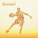 αφηρημένο παίχτης μπάσκετ Στοκ Εικόνες