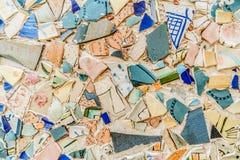 Αφηρημένο παλαιό κεραμίδι Jaffa Καλλιτεχνικό έργο τέχνης στο Ισραήλ Στοκ Εικόνα