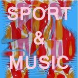 Αφηρημένο πλέγμα music&sport διανυσματική απεικόνιση