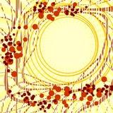 αφηρημένο πλαίσιο κίτρινο Στοκ Εικόνα