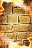 αφηρημένο πλαίσιο πυρκαγ&i στοκ εικόνες