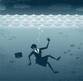 Αφηρημένο πνίξιμο επιχειρηματιών. απεικόνιση αποθεμάτων