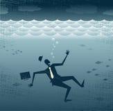 Αφηρημένο πνίξιμο επιχειρηματιών. διανυσματική απεικόνιση