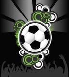 αφηρημένο ποδόσφαιρο σφα&iot διανυσματική απεικόνιση