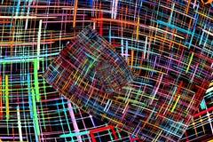 Αφηρημένο πολύχρωμο ελεγμένο fractals σχέδιο i ελεύθερη απεικόνιση δικαιώματος