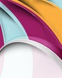 αφηρημένο πολύχρωμο κύμα αν απεικόνιση αποθεμάτων
