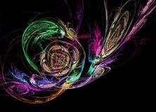 Αφηρημένο πολύχρωμο fractal σχέδιο Στοκ Φωτογραφία