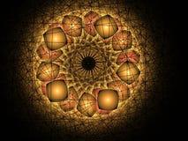 Αφηρημένο πολύχρωμο fractal σχέδιο Στοκ Φωτογραφίες