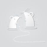 Αφηρημένο ποντίκι εγγράφου Στοκ Φωτογραφίες