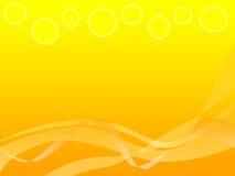αφηρημένο πορτοκάλι ανασκόπησης κίτρινο Στοκ Εικόνες