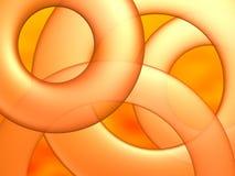 αφηρημένο πορτοκάλι κύκλ&omega ελεύθερη απεικόνιση δικαιώματος
