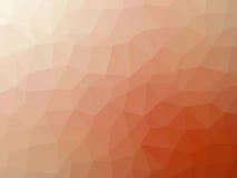 Αφηρημένο πορτοκαλί άσπρο διαμορφωμένο πολύγωνο υπόβαθρο κλίσης Στοκ Εικόνα