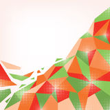 Αφηρημένο πορτοκαλής-πράσινο υπόβαθρο Στοκ Εικόνα