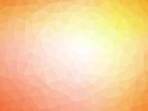 Αφηρημένο πορτοκαλί κίτρινο polygonal υπόβαθρο Στοκ φωτογραφίες με δικαίωμα ελεύθερης χρήσης