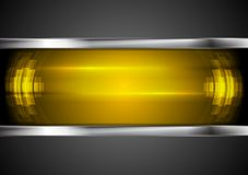 Αφηρημένο πορτοκαλί υπόβαθρο υψηλής τεχνολογίας με μεταλλικό Στοκ φωτογραφία με δικαίωμα ελεύθερης χρήσης