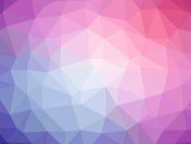 Αφηρημένο πορφυρό ρόδινο polygonal υπόβαθρο Στοκ Εικόνες