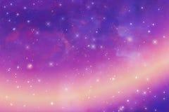 Αφηρημένο πορφυρό υπόβαθρο, έναστρη σύσταση ουρανού, απεικόνιση, κλίση διανυσματική απεικόνιση