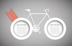 Αφηρημένο ποδήλατο διανυσματική απεικόνιση