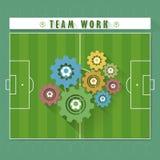 Αφηρημένο ποδόσφαιρο εργασίας ομάδων απεικόνιση αποθεμάτων