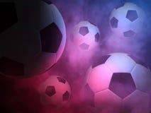 αφηρημένο ποδόσφαιρο σφαιρών ανασκόπησης Στοκ Φωτογραφία
