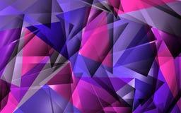 αφηρημένο πολύγωνο ανασκό& Στοκ εικόνες με δικαίωμα ελεύθερης χρήσης