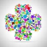 Αφηρημένο πολύχρωμο φύλλο τέσσερα διανυσματική απεικόνιση