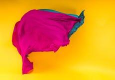 Αφηρημένο πολύχρωμο ύφασμα στην κίνηση Στοκ φωτογραφίες με δικαίωμα ελεύθερης χρήσης