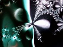 αφηρημένο πράσινο αστέρι λουλουδιών Στοκ Εικόνες