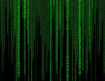 Αφηρημένο πράσινο δυαδικό υπόβαθρο τεχνολογίας Δυαδικός βακαλάος υπολογιστών Απεικόνιση αποθεμάτων