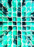 Αφηρημένο πράσινο ζουμ διάστασης μωσαϊκών Στοκ φωτογραφίες με δικαίωμα ελεύθερης χρήσης