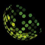 Αφηρημένο πράσινο ημισφαίριο φιαγμένο από six-sided πολύγωνα Στοκ φωτογραφία με δικαίωμα ελεύθερης χρήσης